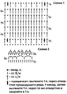туника узор схема крючком