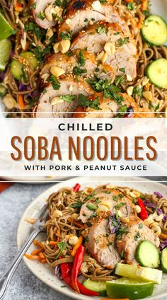 You're going to love the colors and flavors in this dish. It's easy to customize for the whole family, plus the creamy peanut sauce doubles as a marinade! #ad #realpork #porktenderloinrecipes #sobanoodles #sobanoodlesalad Asian Noodle Recipes, Easy Pasta Recipes, Asian Recipes, Real Food Recipes, Healthy Recipes, Lunch Ideas, Meal Ideas, Smart Nutrition, Balanced Life