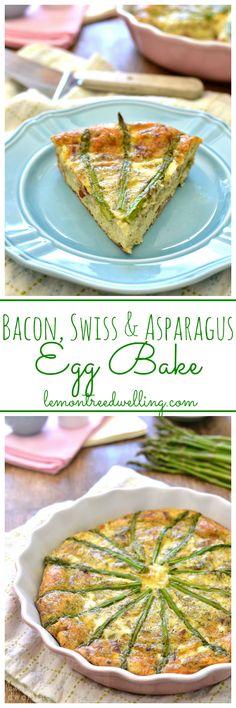 Bacon, Swiss & Asparagus Egg Bake | Lemon Tree Dwelling