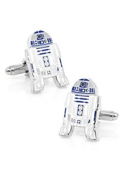 Pay homage to the smart little astromech that helped Luke Skywalker save the galaxy with this stunning pair of Star Wars inspired R2D2 Cufflinks.