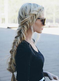 fonott+frizurák+-+halszálka+fonás