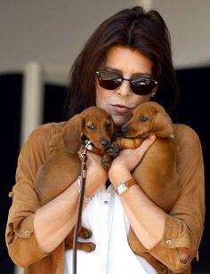 royaltyandpomp:  Princess Caroline and dachshunds