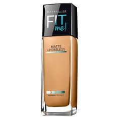 Maybelline Fit Me! Matte Poreless Foundation /Rich Tan Fl Oz Ml). Tone + texture-fitting foundation for the ultimate natural fit. Mattifies, erases pores and matches natural tone. Recommend For Normal to Oily Skin. Base Maybelline, Maybelline Foundation, Best Drugstore Foundation, Oil Free Foundation, Matte Foundation, No Foundation Makeup, Drugstore Beauty, Foundation Sets, Shopping