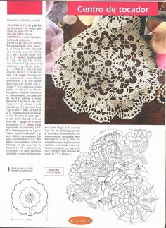 Small crochet doily with chart
