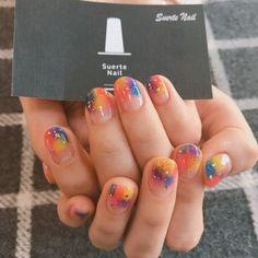 Pin by Danica on Nail check✊ in 2020 Nails Now, Gel Nails, Acrylic Nails, Gorgeous Nails, Pretty Nails, Water Color Nails, Mauve Nails, Korean Nail Art, Kawaii Nails