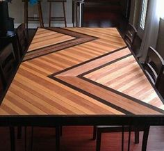 DIY plywood patterned table