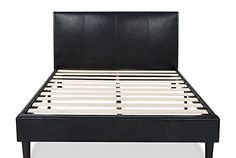 Zinus Deluxe Faux Leather Upholstered Platform Bed with Wooden Slats, … Review