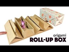 Origami Roll Up Box Tutorial ♥︎ DIY Accordion Box ♥︎ Paper Kawaii - YouTube