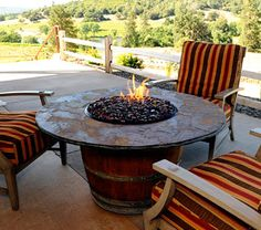 Red Ember Julesburg 35 In Gas Fire Table A Perfect