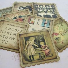 embellishments for baby shower favors | Vintage Inspired Children Storybook Tags or Baby Shower Tags Series 1 ...