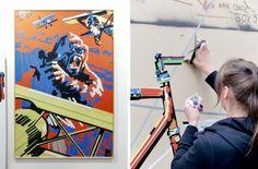 "eva kupfer ""king kong"" / stroke urban art fair, munich 2012"