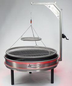 barbecue a bois en inox