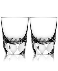 Orrefors Set of 2 Carat Double Old-Fashioned Glasses