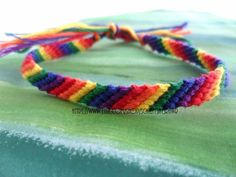 Hey, I found this really awesome Etsy listing at https://www.etsy.com/listing/103017738/rainbow-friendship-bracelet-thin