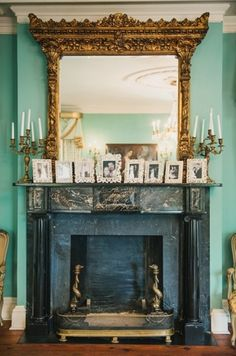 Love the mantle at the William Aiken House in Charleston.