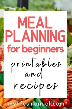 Meal Planning Binder and Beginners Guide for Busy Moms With Picky Eaters Meal Planning Binder, Menu Planning Printable, Family Meal Planner, Budget Meal Planning, Keto Menu Plan, Low Carb Meal Plan, Easy Meal Plans, Free Meal Plans, Food Budget
