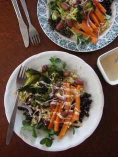Salaatti paahdetuista kasviksista. Veikeä Verso -blogi