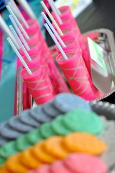 Neon Glow in the Dark Party perfect for a TEEN with LOADS of cute and easy ideas! via Kara's Party Ideas KarasPartyIdeas.com #neon #teenage #birthday #party #ideas