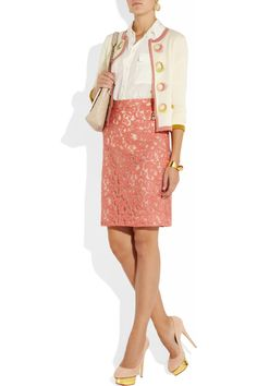Moschino Cheap and Chic Cotton and wool-blend cardigan NET-A-PORTER.COM