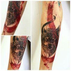 Wolf Tattoo Sleeve, Tattoo Wolf, Demon Tattoo, Wolf Tattoo Design, Sleeve Tattoos, Tattoo Designs, Tattoos Lobo, Letras Tattoo, Freedom Tattoos