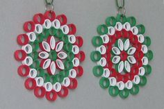 Ornaments in der Kunst der quilling Barbaras Beautys Paper Quilling For Beginners, Paper Quilling Tutorial, Quilling Paper Craft, Quilling Techniques, Paper Crafts, Crafts To Make, Christmas Crafts, Crafts For Kids, Christmas Ornaments