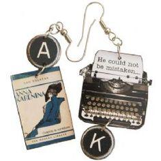 Anna Karenina Typewriter Earrings