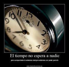 El tiempo no perdona a nadie y sigue avanzando sin miramientos...