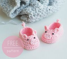 Croby Patterns | FREE Crochet Pattern – Piggy Baby Booties