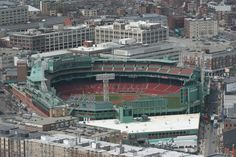View of Fenway Park from the Skywalk Observatory at Prudential Center.