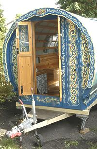 Towable Gypsy Bowtop Caravan The gypsy bowtop caravan is built on a brand new, fully braked Alko caravan chassis and can be towed as a conv. Gypsy Trailer, Gypsy Caravan, Gypsy Wagon, Gypsy Decor, Bohemian Gypsy, Gypsy Style, Hippie Style, Small Campers, Shepherds Hut