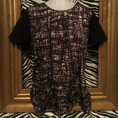 Silky boutique top; L Silky top with navy print Charlie Jade Tops