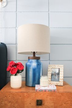 [Home Decor] #DIY Painted Glass Lamp