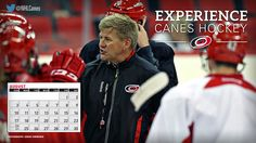 #Canes August Wallpaper: Head coach Bill Peters. Click to download!
