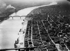 St. Louis Riverfront, ca. 1920.  #STLPRS  Photo; Missouri Historical Society