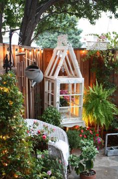 Patio Shabby Sheek Patio Design, Pictures, Remodel, Decor and Ideas Garden Nook, Terrace Garden Design, Garden Art, Reading Garden, Garden Spaces, Reading Nook, Outdoor Rooms, Outdoor Fun, Outdoor Gardens