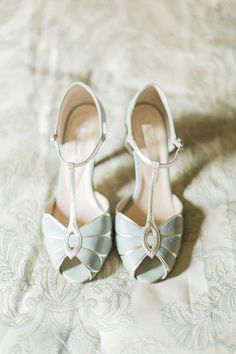 Mint BHLDN Mimosa T-Straps| The Mansion Inn of Saratoga Wedding| Photographer:  Harlow Bliss Photography