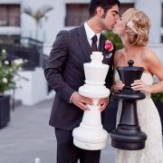 chess with the white king and black queen. Aaron and I played chess together a few times- this would have been cute for our wedding. Our Wedding, Dream Wedding, Wedding Ideas, Wedding Styles, Wedding Decor, Wedding Stuff, Couple Pictures, Getting Married, Style Me