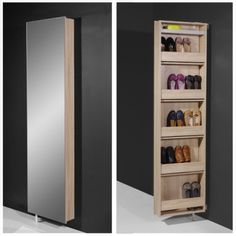 Igma Mirrored Rotating Shoe Storage Cabinet, 1189-156