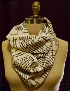 Pride and Prejudice Book Scarf...I must have this.