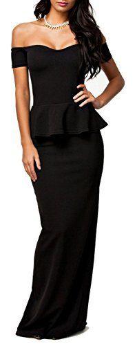 Made2envy Robe de soirée longue - Femme- S - Noir Made2envy http://ebay.to/1IG8vWE