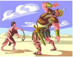 """Estudo para Célula de Crianças - Davi e Golias           Título: """"Davi e Golias""""       1- Recepção / Bate-papo (Receba as crianças, cump..."""