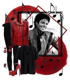 """Michael Jackson"" by alyssa-eatinger ❤ liked on Polyvore"