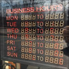 Electronic Store Hours Default to Tilt-Mode