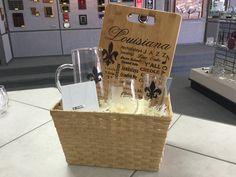 Louisiana love gift basket from Awardmaster! Lafayette Louisiana, Recognition Awards, Custom Engraving,