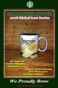 2008 Starbucks Icon Series City Mugs - Baguio City, Philippines (Panagbenga Festival)...