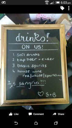 Drinks board