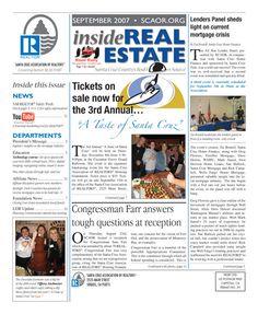 Sept. 2007 SCAOR Newsletter Cover Design http://dixongraphics.com/portfolio_newsl.htm