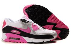 Nike Air Max 90 Femmes Rose Noir Blanc Chaussures