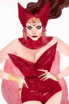 Scarlet Witch, X-Men Couture by Kevin Wada.