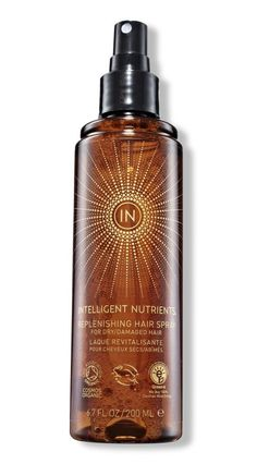 Intelligent Nutrients Replenishing Hair Spray, one of the 22 best green beauty products this year. 30 hair, makeup, and skin pros weigh in and explain why.